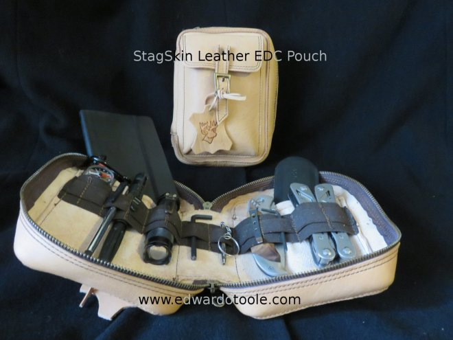 StagSkin Leather EDC Pouch