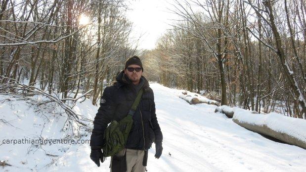 Snow on a loggingtrail