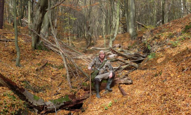 Autumn bushcraft in the Carpathians