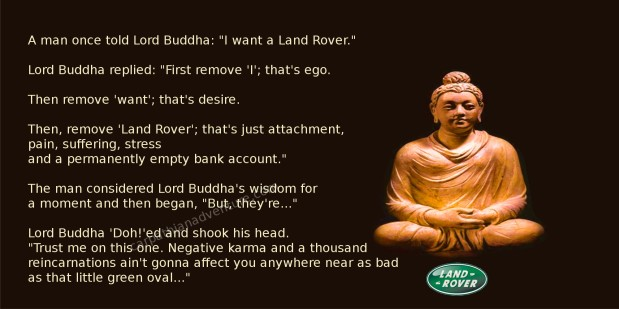 Buddha on Land Rover