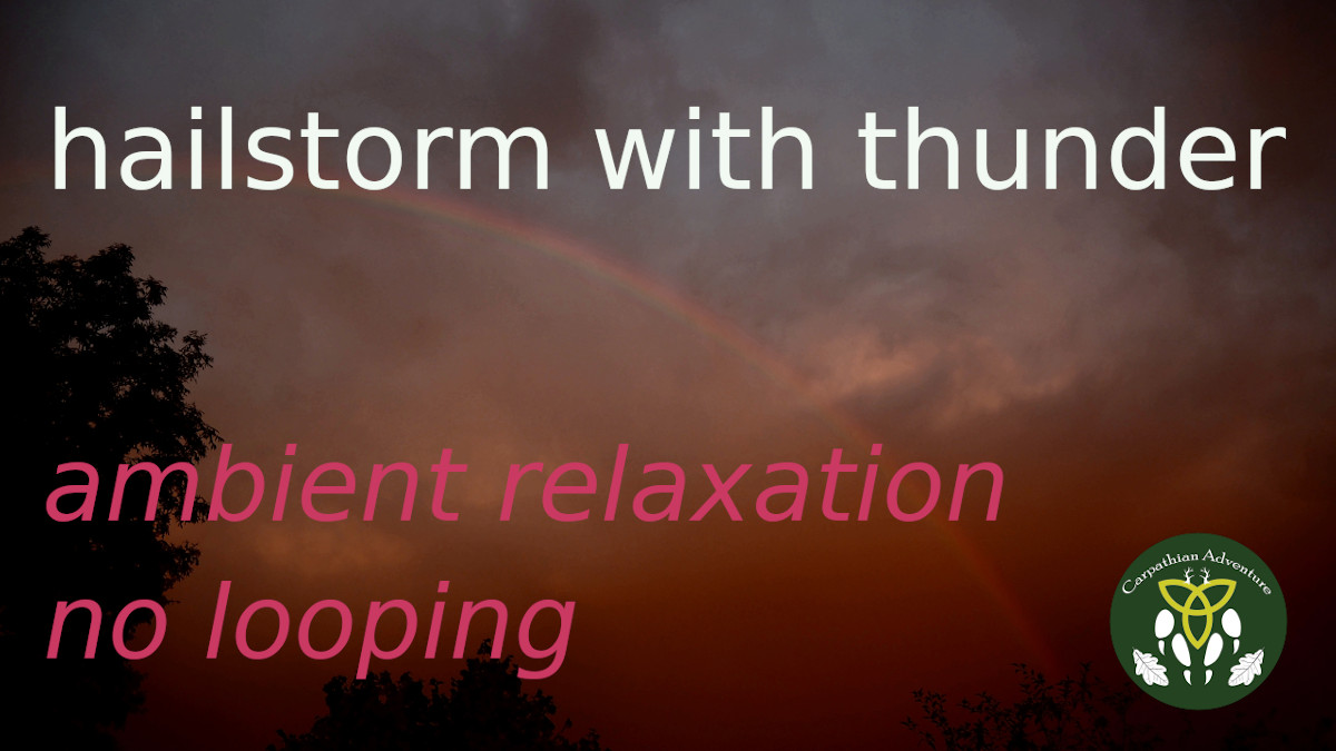 hail storm with thunder